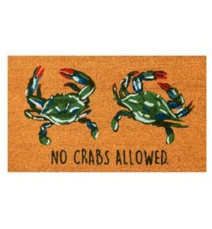 Liora Manne Natura No Crabs Allowed Outdoor Mat Natural