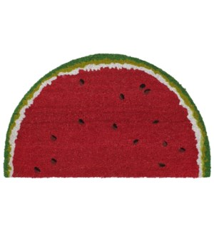 Liora Manne Natura Watermelon Outdoor Mat Red 1/2 Round