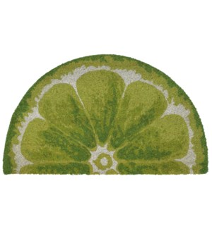 Liora Manne Natura Lime Outdoor Mat Green 1/2 Round