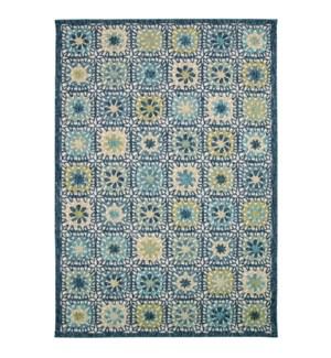 Liora Manne Portofino Boho Tiles Indoor/Outdoor Rug Aqua