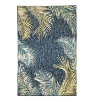 Liora Manne Portofino Palm Border Indoor/Outdoor Rug Navy