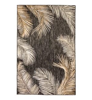 Liora Manne Portofino Palm Border Indoor/Outdoor Rug Black