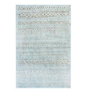 Liora Manne Rialto Tribal Stripe Indoor/Outdoor Rug Aqua