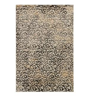 Liora Manne Soho Leopard Indoor Rug Black