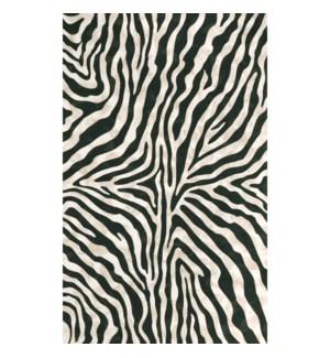 Liora Manne Visions I Zebra Indoor/Outdoor Rug Black