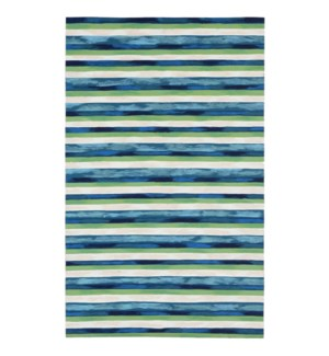 Liora Manne Visions II Painted Stripes Indoor/Outdoor Rug Cool