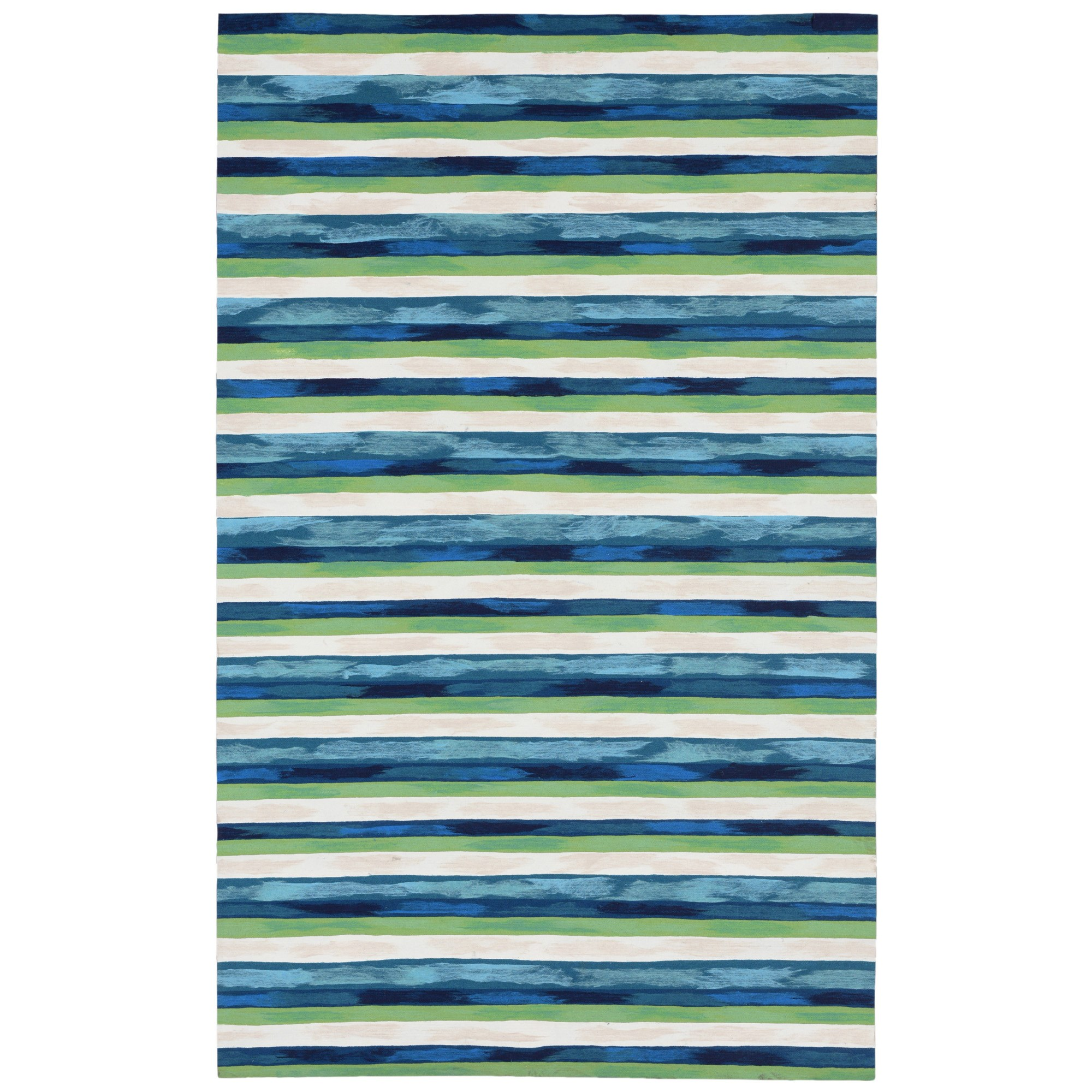 Liora Manne Visions Ii Painted Stripes Indoor Outdoor Rug Cool Visions Trans Ocean