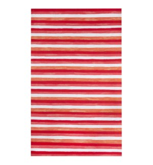 Liora Manne Visions II Painted Stripes Indoor/Outdoor Rug Warm