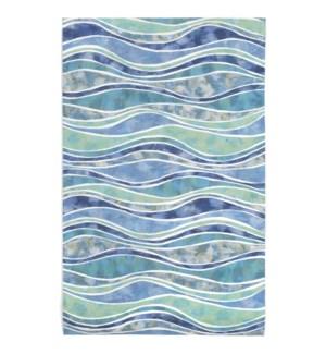 Liora Manne Visions III Wave Indoor/Outdoor Rug Ocean