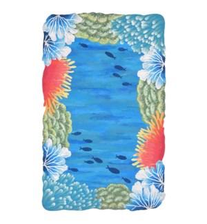 Liora Manne Visions IV Reef Border Indoor/Outdoor Rug Blue