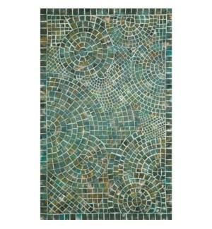 Liora Manne Visions V Arch Tile Indoor/Outdoor Rug Lapis
