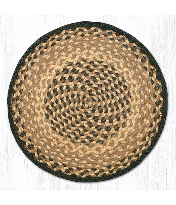 CH-17 Chocolate/Natural Jute Chair Pad 15.5 x 15.5 in.x0.17 in.