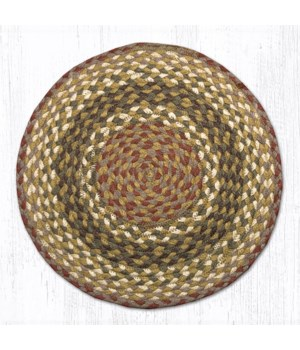 CH-24 Olive/Burgundy/Gray Jute Chair Pad 15.5 x 15.5 in.x0.17 in.