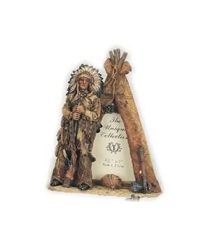 Native American w/TeePee Frame 3.5 x 5 x 9 in. H