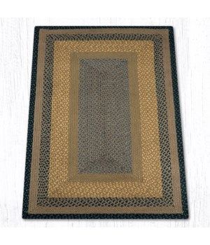 RC-99 Brown/Black/Charcoal Oblong Braided Rug 3'x5'x0.17 in.