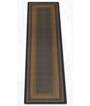 RC-99 Brown/Black/Charcoal Oblong Braided Rug 2'x8'x0.17 in.