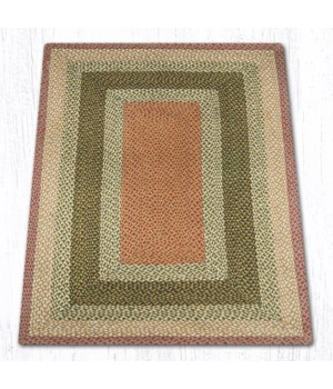 RC-24 Olive/Burgundy/Gray Oblong Braided Rug 4'x6'x0.17 in.