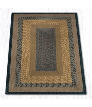 RC-99 Brown/Black/Charcoal Oblong Braided Rug 4'x6'x0.17 in.