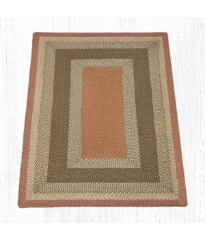 RC-24 Olive/Burgundy/Gray Oblong Braided Rug 5'x8'x0.17 in.