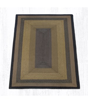 RC-99 Brown/Black/Charcoal Oblong Braided Rug 5'x8'x0.17 in.