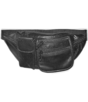 LEATHER WAIST BAG 12.5 in.