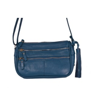 TURQUOISE LEATHER PURSE 8 in.