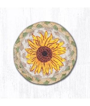 IC-529 Sunflower Printed Coaster 5 x 5  x 0.17 in.