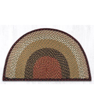 SC-19 Burgundy/Mustard Large Rug Slice 24 in.x39 in.x0.17 in.