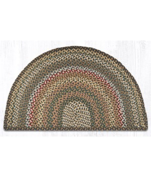 SC-51 Fir/Ivory Large Rug Slice 24 in.x39 in.x0.17 in.