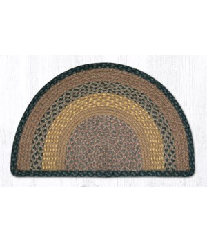 SC-99 Brown/Black/Charcoal Small Rug Slice 18 in.x29 in.x0.17 in.