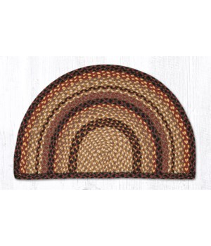 SC-371 Black Cherry/Chocolate/Cream Small Rug Slice 18 in.x29 in.x0.17 in.