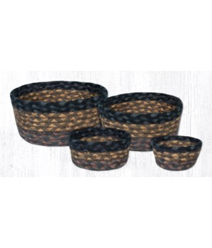 CB-99 Brown/Black/Charcoal Casserole Baskets Set of 4x0.17 in.