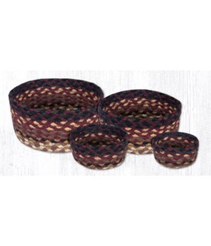 CB-371 Black Cherry/Cholocate/Cream Casserole Baskets Set of 4x0.17 in.