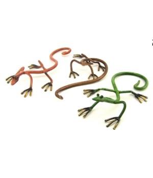 Metal Geckos Set of 3 - 10 in. L