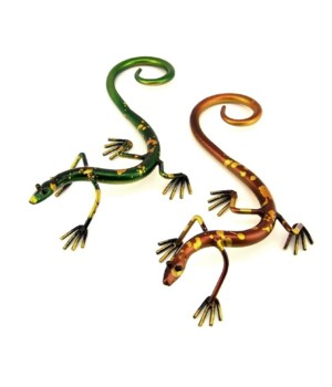 Large Metal Gecko Set of 2 - 12 in. L