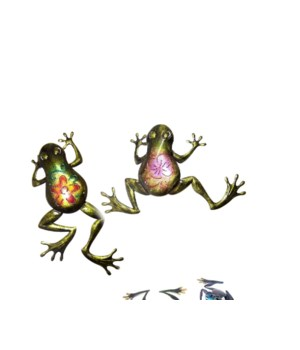 Metal Wall Frogs set of 2 - 19 in. L