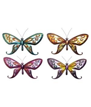 Metal Butterfly Set of 4 - 20 in. L