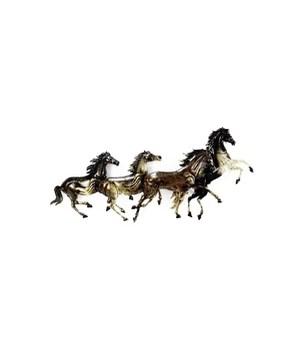 METAL RUNNING HORSES Set of 2 - 36  x 14 in.
