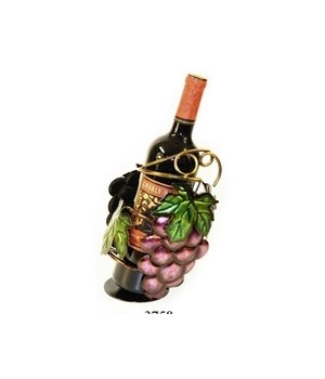 Metal Red Grape Wine Holder 9 in.H