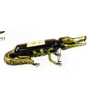 Metal Alligator Wine Holder 16 in.L