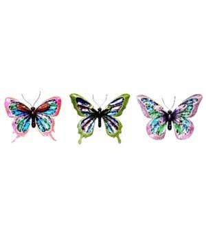 Metal Butterflies Set of 3 - 13 in. W