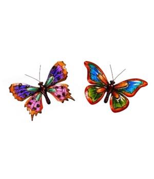 Metal Butterflies Set of 2 - 15 in. W