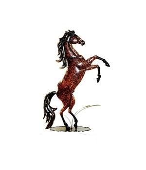 Metal Bucking Horse 16 in.