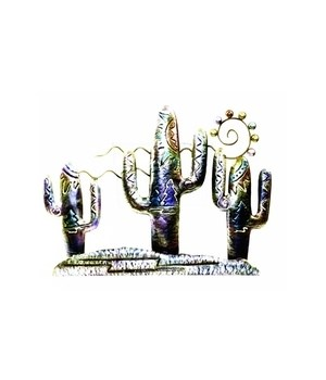 Metal Wall Hanging Cactus - Set of 2    21 W x 15 in H
