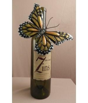 Monach B/fly Bottle Charm. Set of 6..6.5 in.W