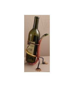 Gecko behind back Wine Holder 8.5 in.H