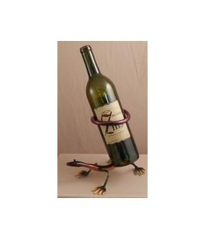 Gecko through tail Wine Holder 8 in.H