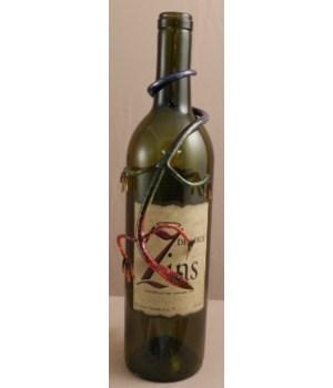 Gecko Wine Bottle Charm 7.5 in.L Set of 4