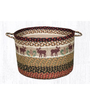 UBP-19 Moose/Pinecone Printed Utility Basket 17 in.x11 in.x0.17 in.
