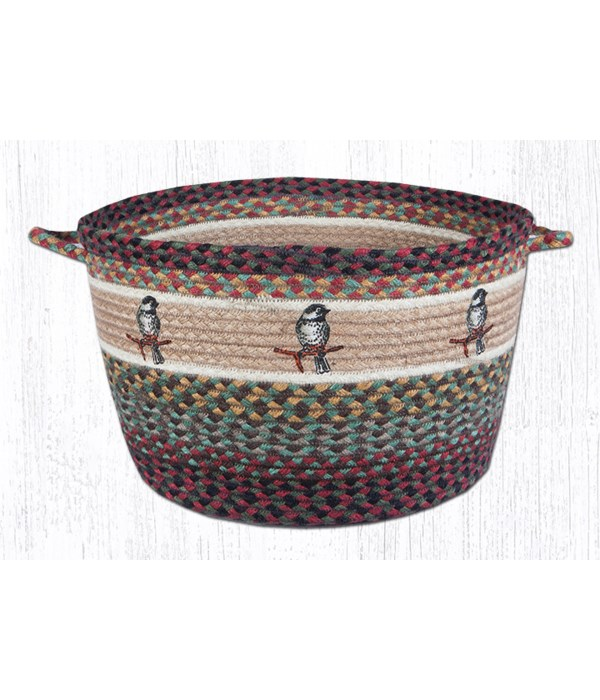 UBP-81 Chickadee Printed Utility Basket 17 in.x11 in.x0.17 in.